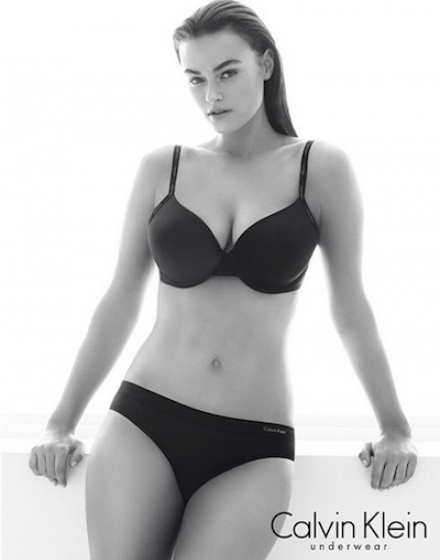 "8f8aa9b1ace Calvin Klein Sparks Controversy with ""Plus Size"" Model Underwear Campaign"