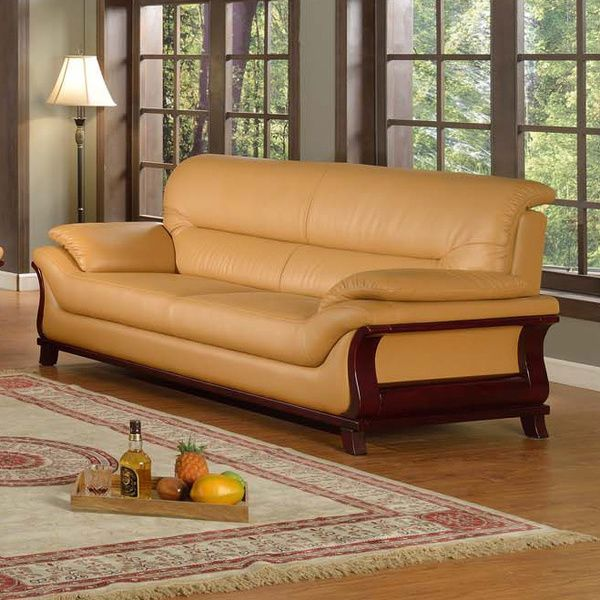 kalina bonded leather modern sofa overstock shopping great