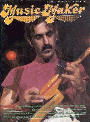music maker      (1984/11, magazine, the netherlands)  the november 1984 edition of dutch music maker magazine had a 5-page article on frank zappa.
