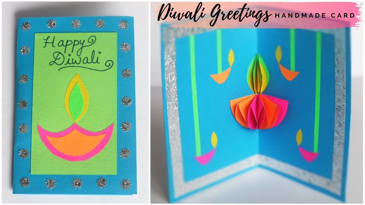 Diwali Greeting Card Pop Up Card Happy Diwali Card Making Deepavali Wishes Diwali Diya Card Diwali Card Making Diwali Greetings Diwali Greeting Cards