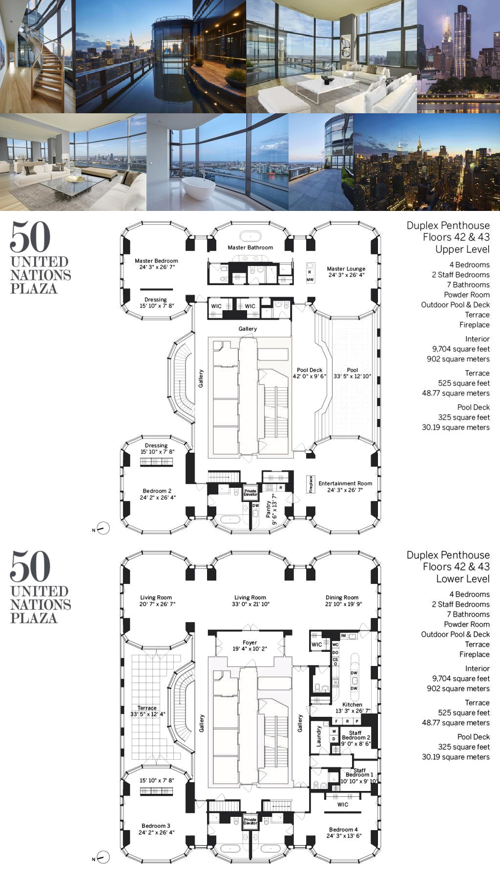 50 United Nations Plaza Dph4243 Is A Sale Unit In Turtle Bay Manhattan Priced At 70 000 000 Floor Plans Apartment Floor Plans Luxury Floor Plans