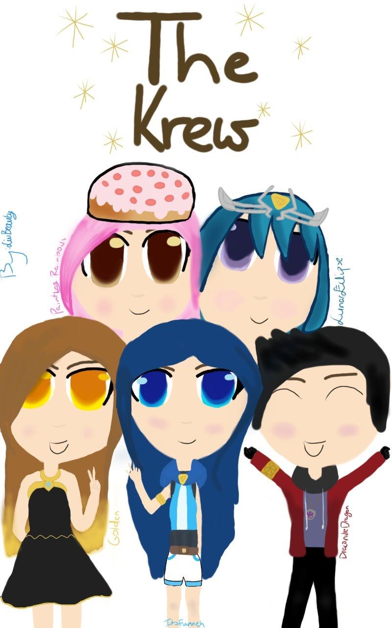 A Drawing Of The Krew Paintingrainbows Goldenglare Itsfunneh
