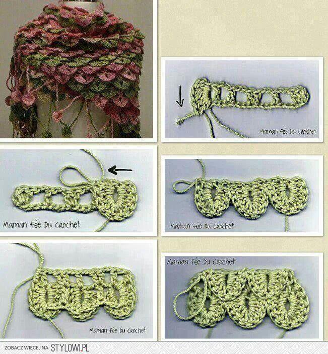 Alligator Crochet Wrap   ✂ Crochet - Afghans & Stitch Patterns ...