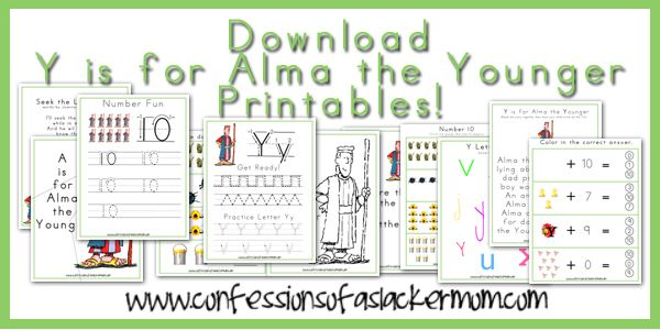 Click To Download Y Is For Alma The Younger Printables