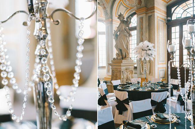 Tischdeko winterhochzeit  Great Gatsby, DIY Hochzeitstorte und Glitzer überall - Eine ...
