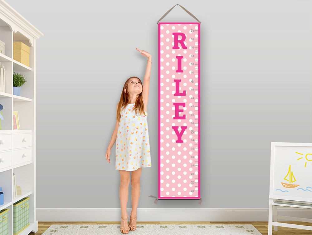 Pink Growth Chart Baby Gift Toddler Gift Kids Gift Childrens
