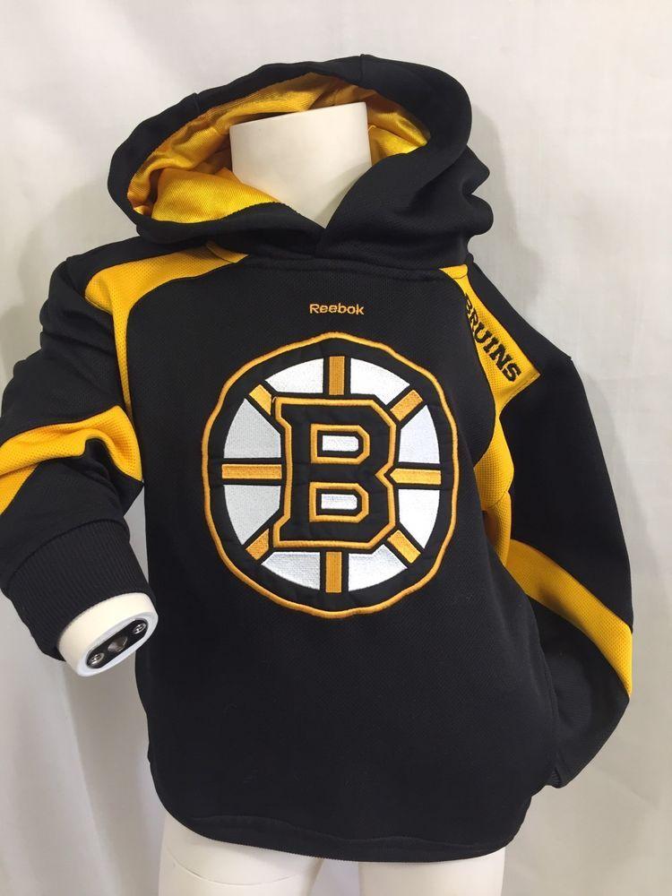 Reebok Boston Bruins Hoodie Faceoff Collection Medium Youth 5 6 NHL Hockey  Shirt  Reebok  BostonBruins c345cb587