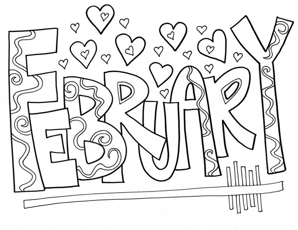 February Coloring Pages February Colors Coloring Pages Valentine Coloring Pages