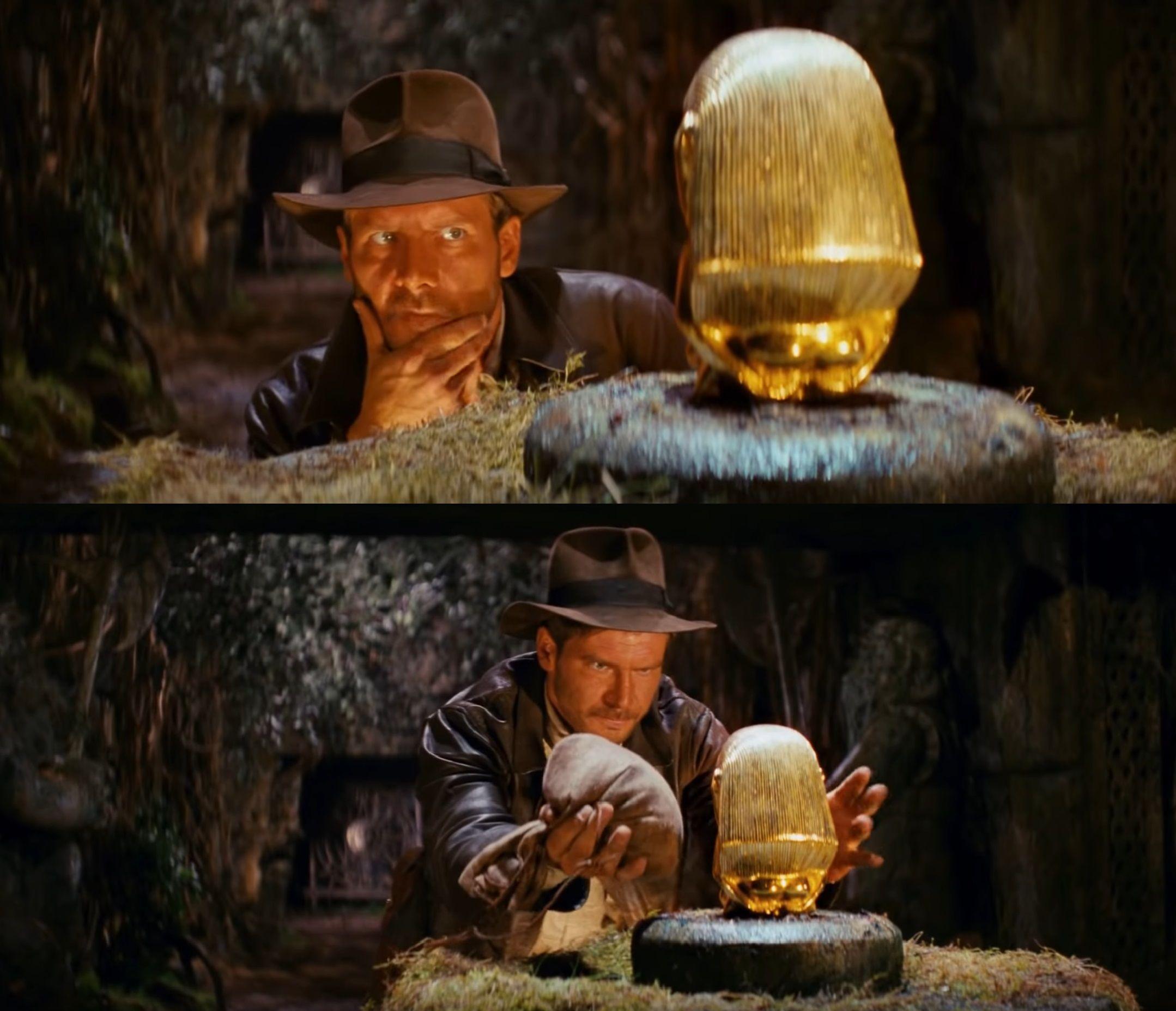 Indiana Jones Swap Idol Meme Meme Template and Creator