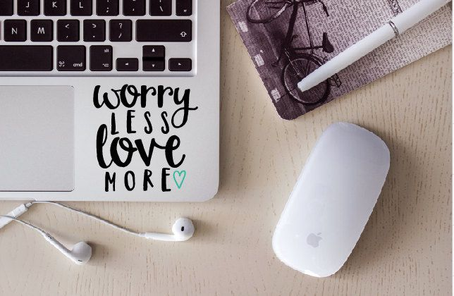 MacBook Decal, Worry Less Love More, Love More, Laptop Decal, Car - resume yeti