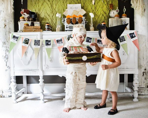 vintage halloween party by Anders Ruff $12 printables- love the - halloween party ideas for kids
