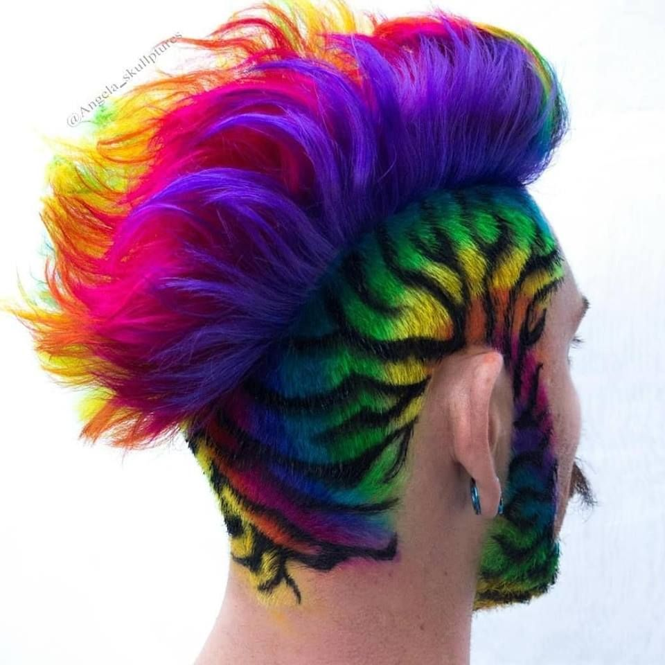 Pin By Joakyn The Big Pika On Hair Mens Hair Colour Artistic Hair Hair Styles