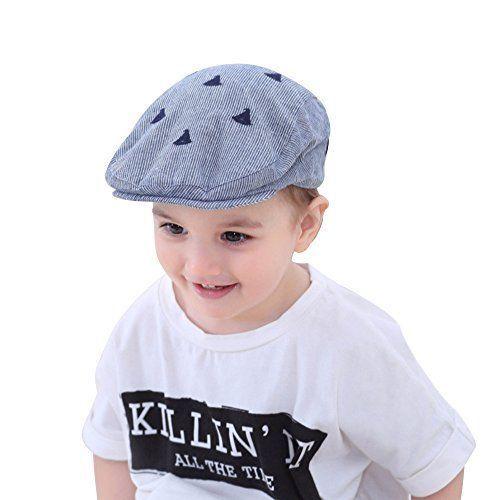 23dbdc8428e5e XIAOHAWANG Kids Cotton Hat Baby Boy Caps Beret with Embroidery Sun  Protection  XIAOHAWANG
