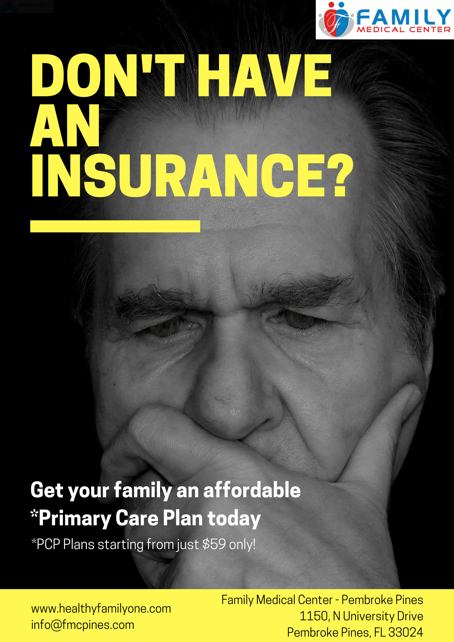 Don't have an insurance plan? Family Medical Center