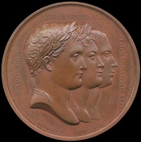 Commemorative medal for the peace treaties at Tilsit (July 1807) - napoleon.org
