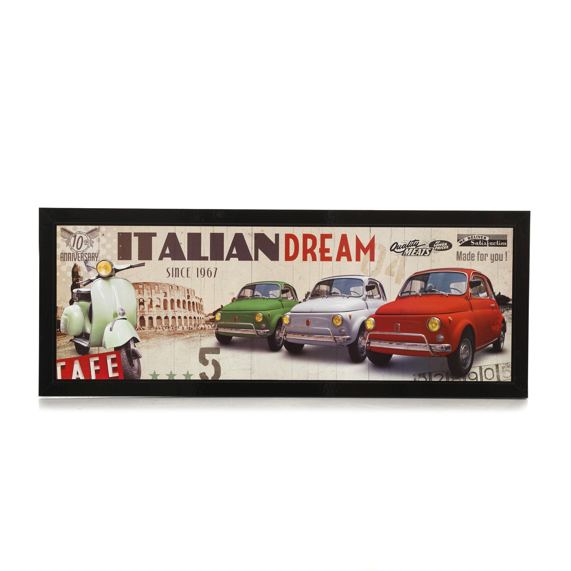 Affiche encadrée Italian Dream - Affiches et déco murale - Alinea