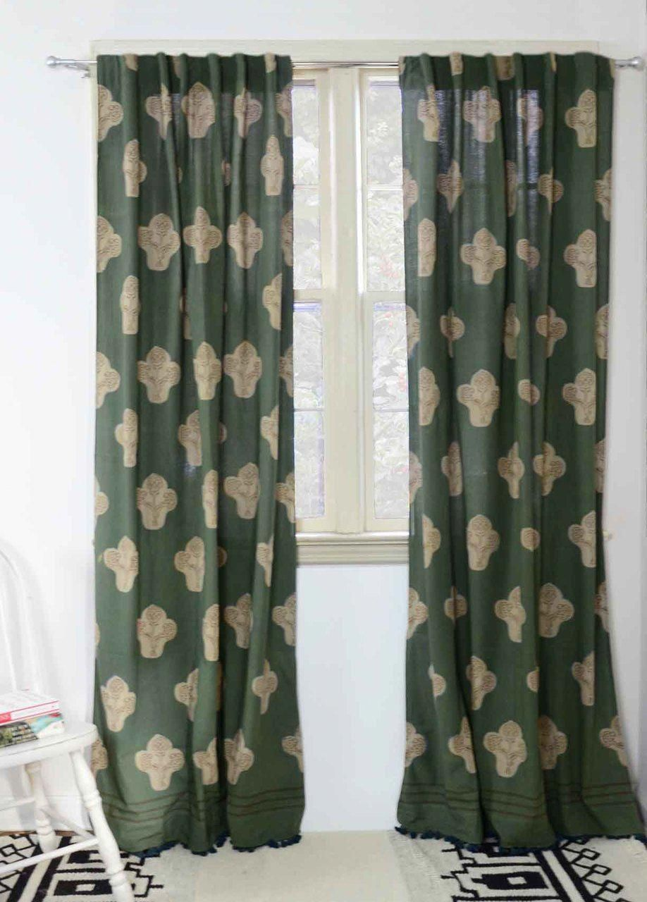 Pin By Alice Estes On Curtains In 2020 Bohemian Curtains Green