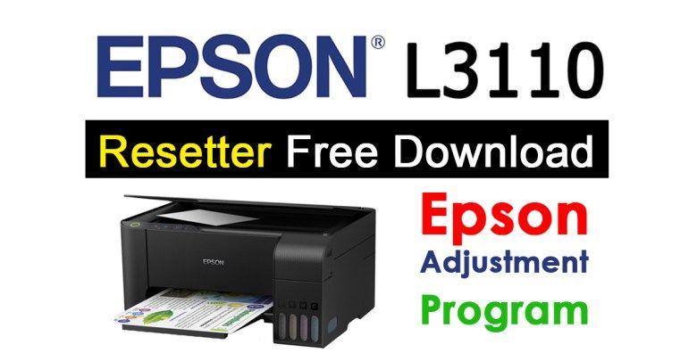 Epson L3110 Resetter Adjustment Program Free Download Free Software Download Sites Epson Free Download