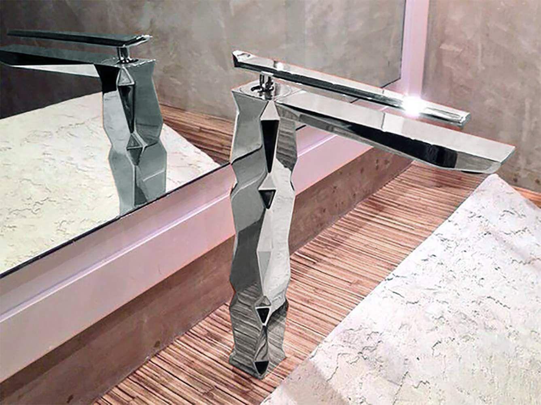 stylish chrome faucet