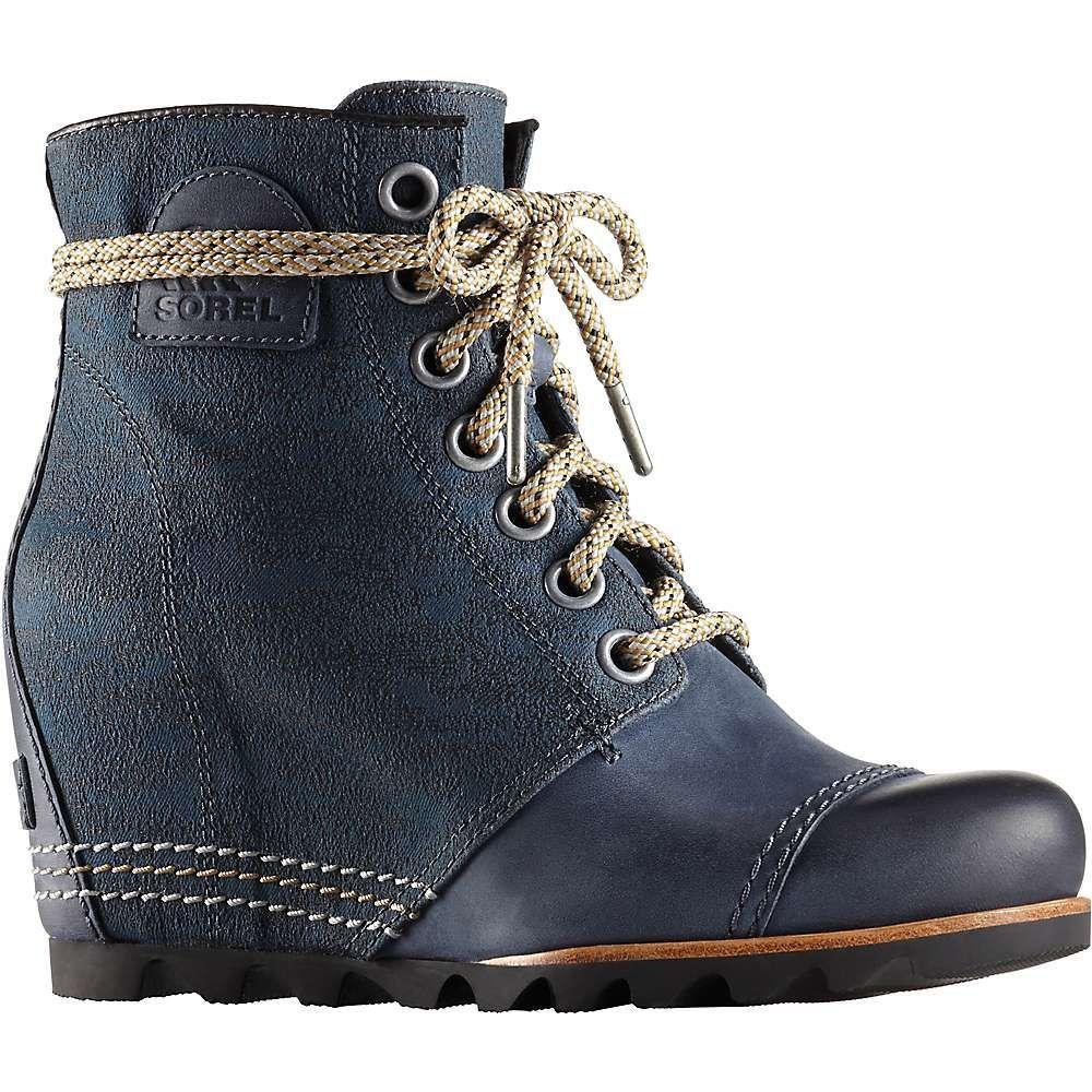 a50a7df33f69 Sorel Women s PDX Wedge Boot - 7.5 - Nylon Collegiate Navy