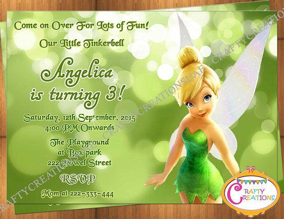Printable tinkerbell invitation orderecigsjuicefo tinkerbell birthday invitation tinkerbell birthday invite wedding invitations filmwisefo Images