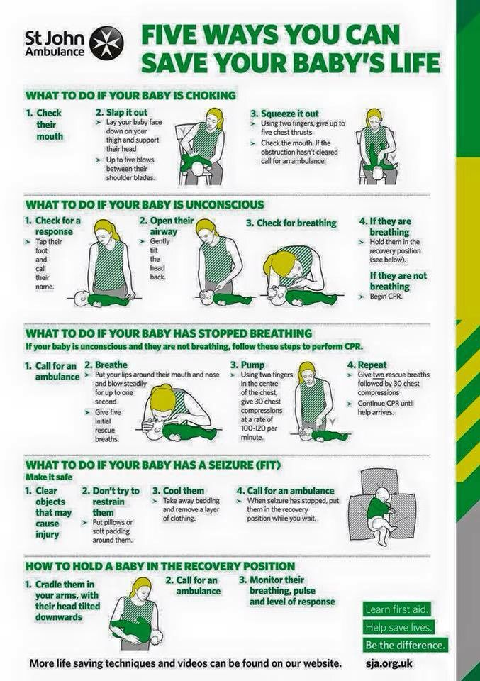 5 ways you can save your baby's life - great to put up in baby's room