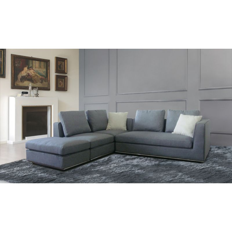 Laura Sectional 5 Seat Sofa W Ottoman/Chaise Lounge