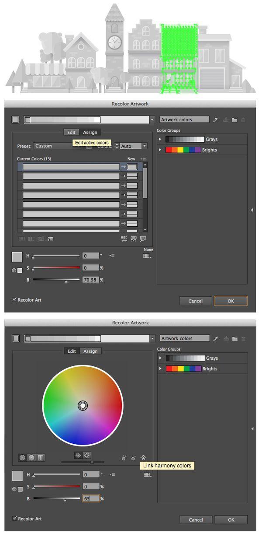 How To Create A Flat Grayscale Cityscape In Adobe Illustrator Envato Tuts Design Illustration Tutorial Illustrator Tutorials Grayscale Recolor