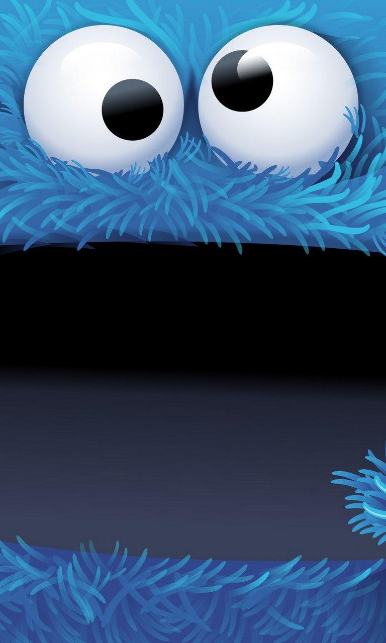 Cookie Monsters Cute Bigface Cartoon Iphone Wallpaper Mobile9