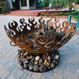 Great Bowl O Fire Steel Amp Wood Iron Fire Pit Fire