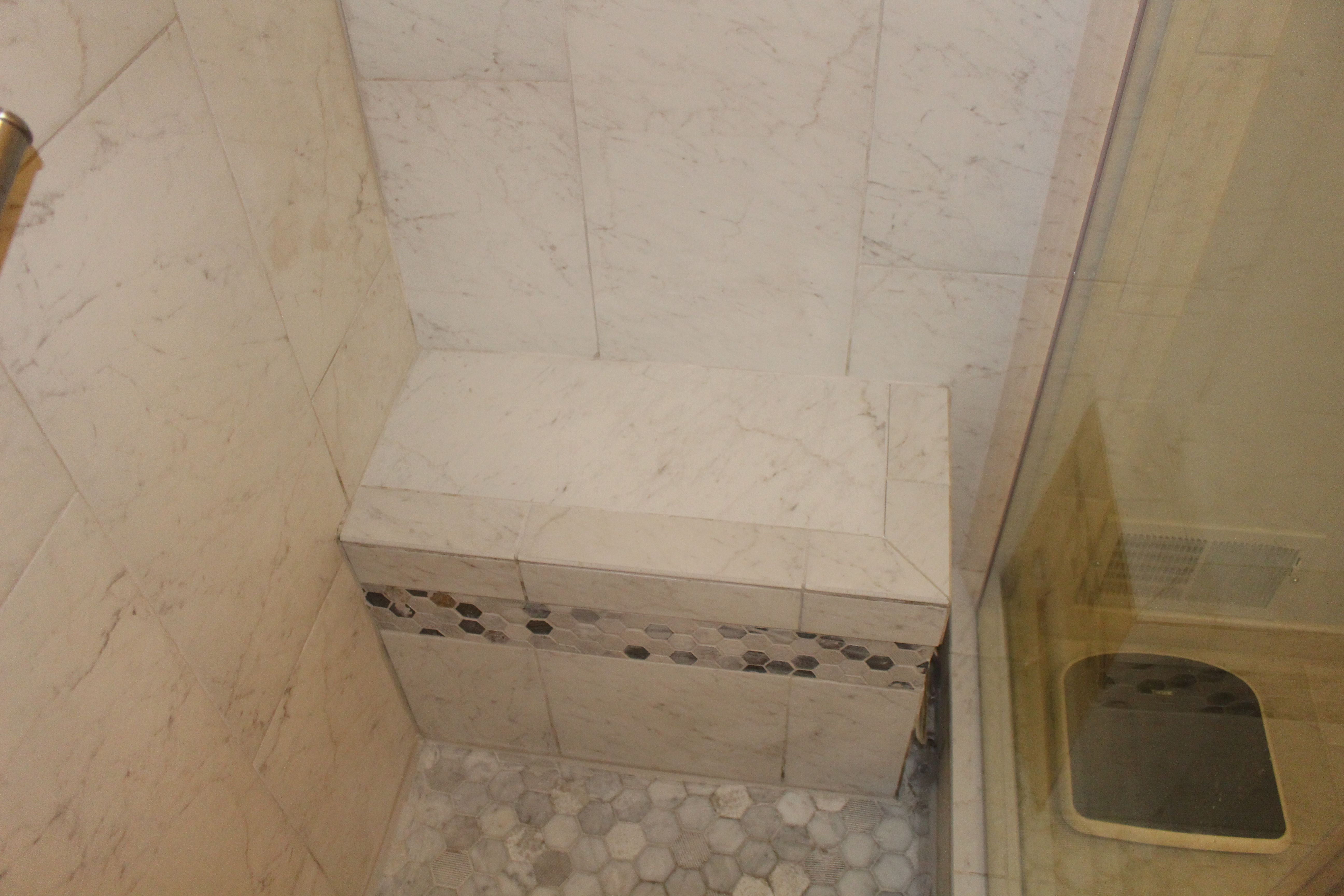 Perfect Area To Add A Small Shower Seat Accented With The Same