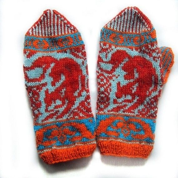 Knitting Pattern For Fox Mittens : PDF knitting pattern-Kitsune Mittens Knit mittens ...