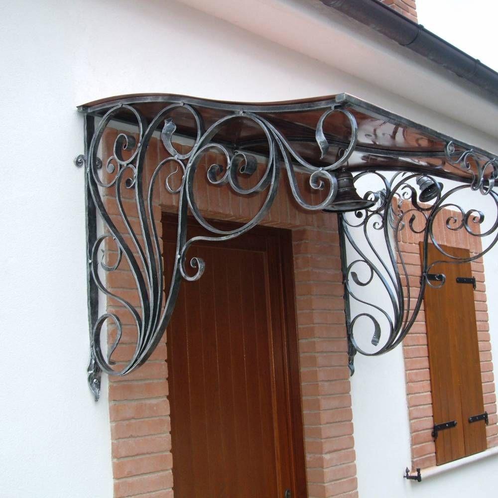 Tettoia in ferro battuto e rame herraje fachada de for Arredamento artistico
