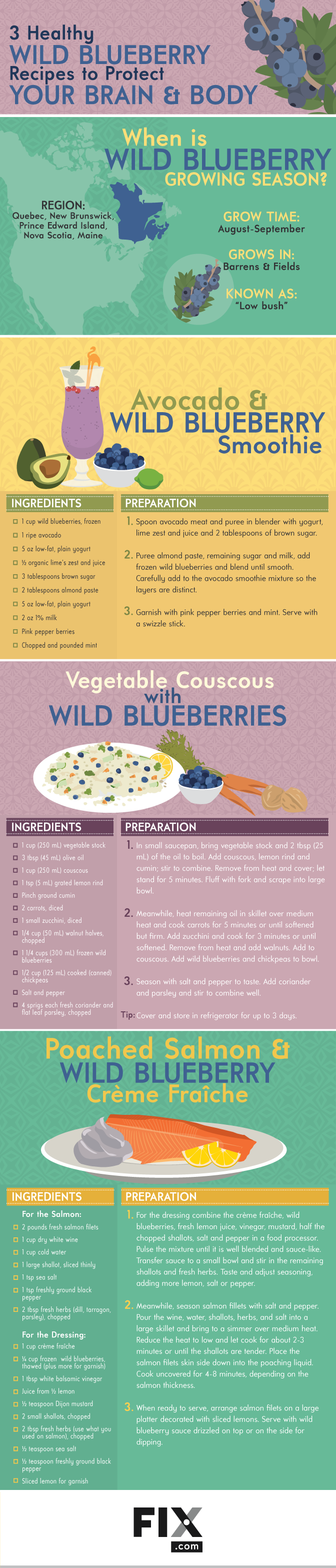 3 Healthy Wild Blueberry Recipes to Protect Your Brain and Body #infographic
