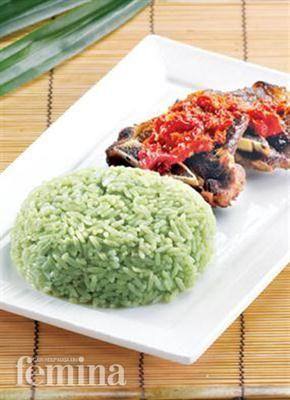Nasi Hijau Dengan Iga Pedas Resep Masakan Indonesia Makanan Dan Minuman Resep