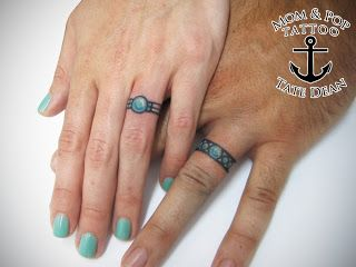 Tate Dean S Tattoo Portfolio Wedding Bands Wedding Band Tattoo Tattoo Wedding Rings Ring Tattoo Designs