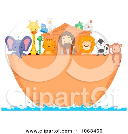 Clipart Noah And Animals On The Ark Royalty Free Vector Illustration By Bnp Design Studio 1063460 Free Vector Illustration Vector Free Vector Illustration