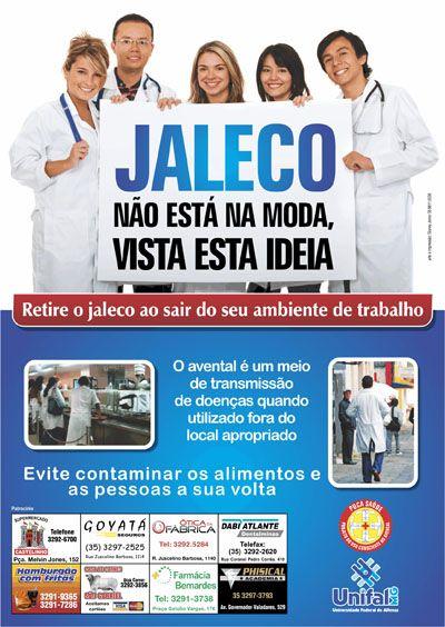 Campanha alerta para os riscos do uso do jaleco fora do ambiente de trabalho | Prematuridade.com