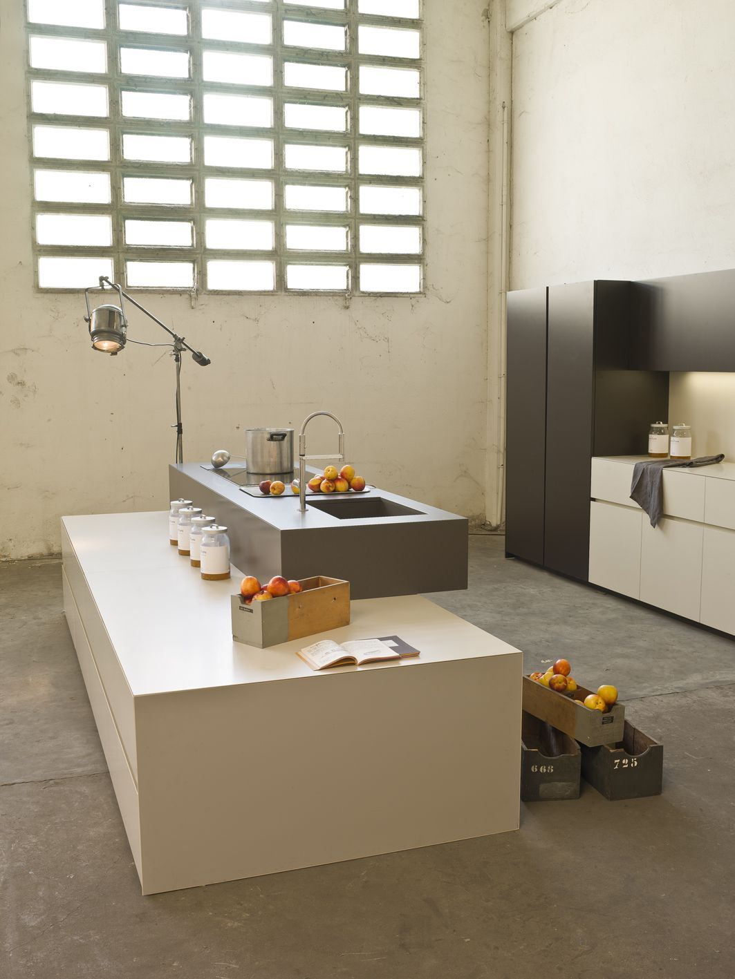 Industrial Kitchen Flooring An Industrial Kitchen With Elegance Uses Lapitecar Satin Finish In