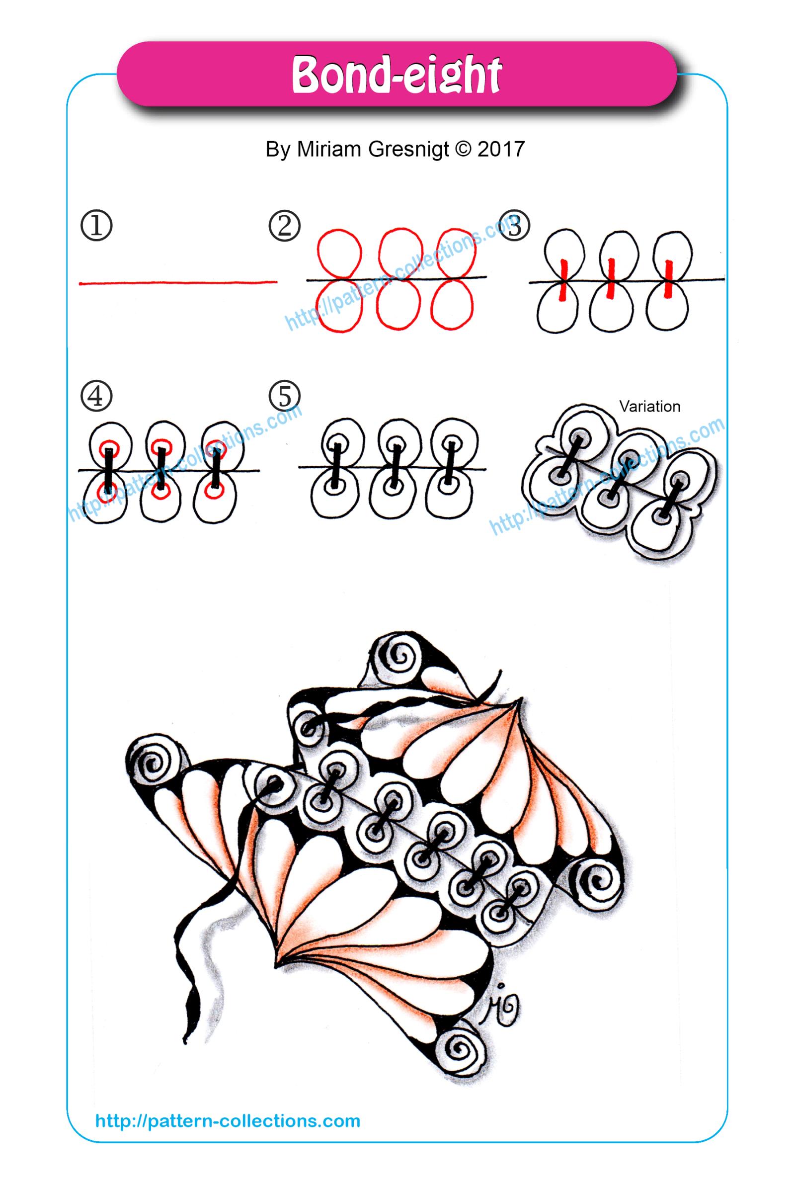 bond eight zentangle patronen kleurplaten zendoodle