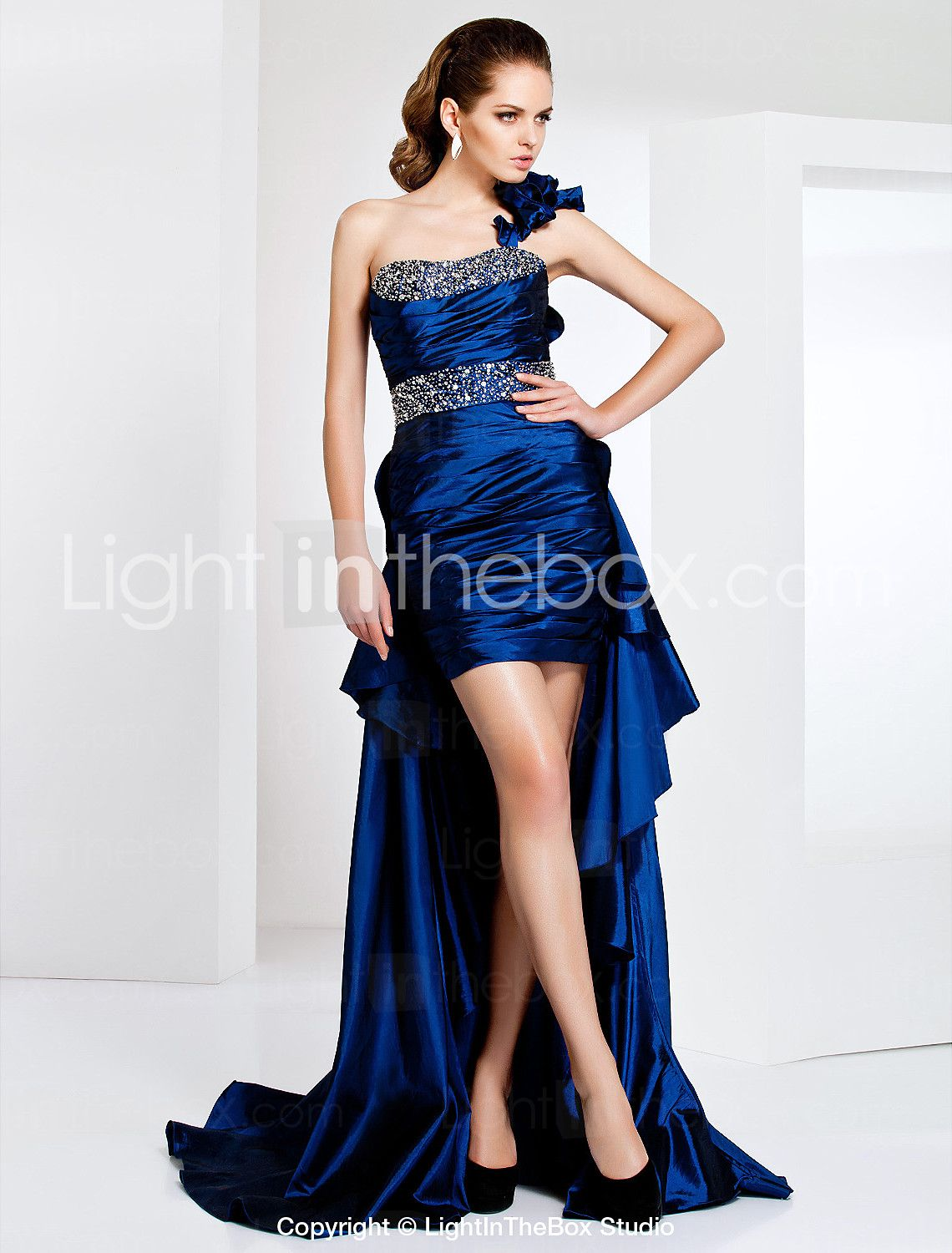 Ts couture cocktail party formal evening dress sexy high low