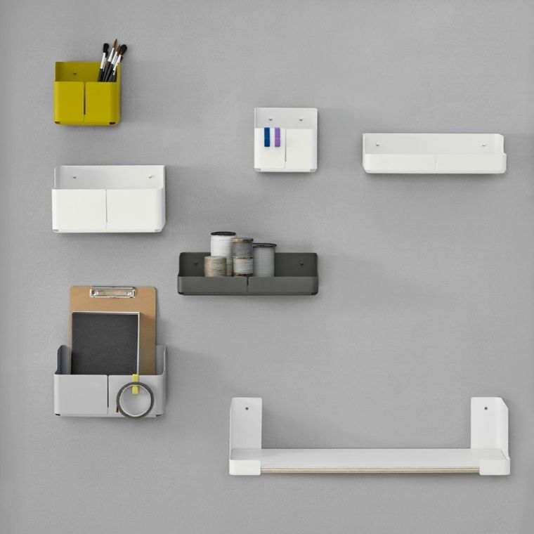 Stylish And Practical Contemporary Furniture For Every: Empty Design Wall Pocket For Modern And Practical Entry