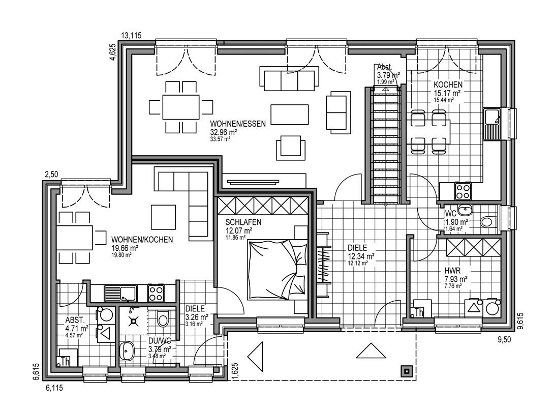 Einfamilienhaus mit kleiner einliegerwohnung grundriss  Bildergebnis für einliegerwohnung haus grundriss | Grundrisse ...