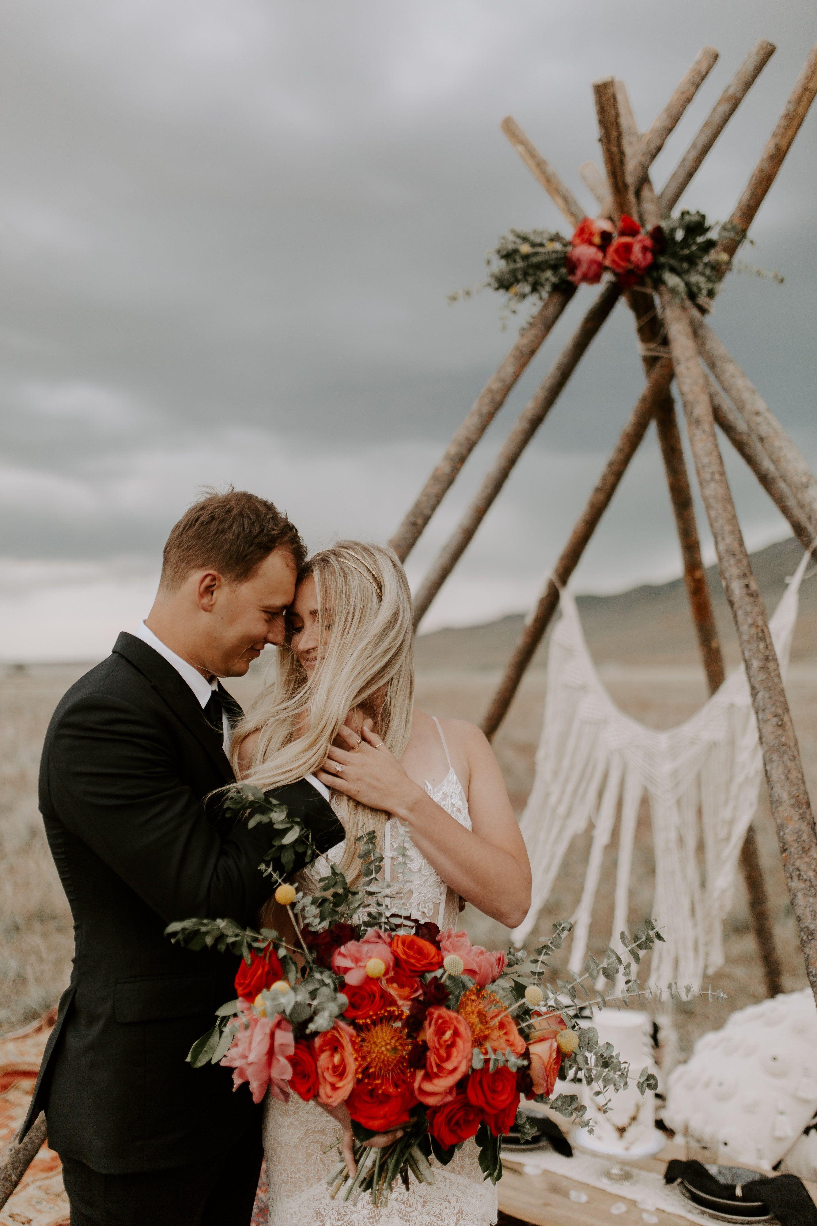 Wedding Rentals Utah | Boho Bridals Antelope Island Vintage Rentals Boho Wedding Boho