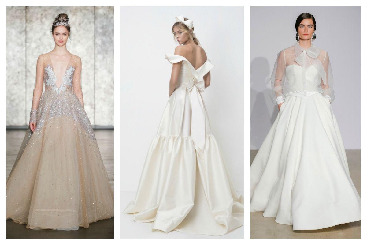 Fall trends from bridal fashion week wedding dress and weddings