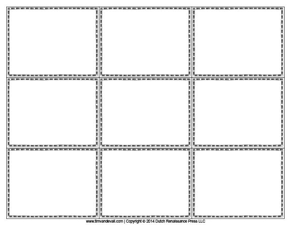 Blank flash card templates printable flash cards pdf for Sd card label template