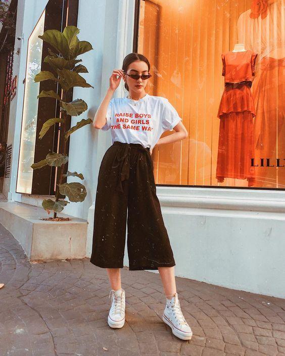Look Con Pantalon Midi Ropa De Moda Pantalones De Moda Moda De Ropa