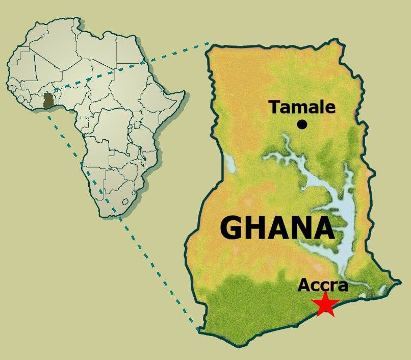 Map Of Ghana West Africa.West Africa Map Ghana Campinglifestyle