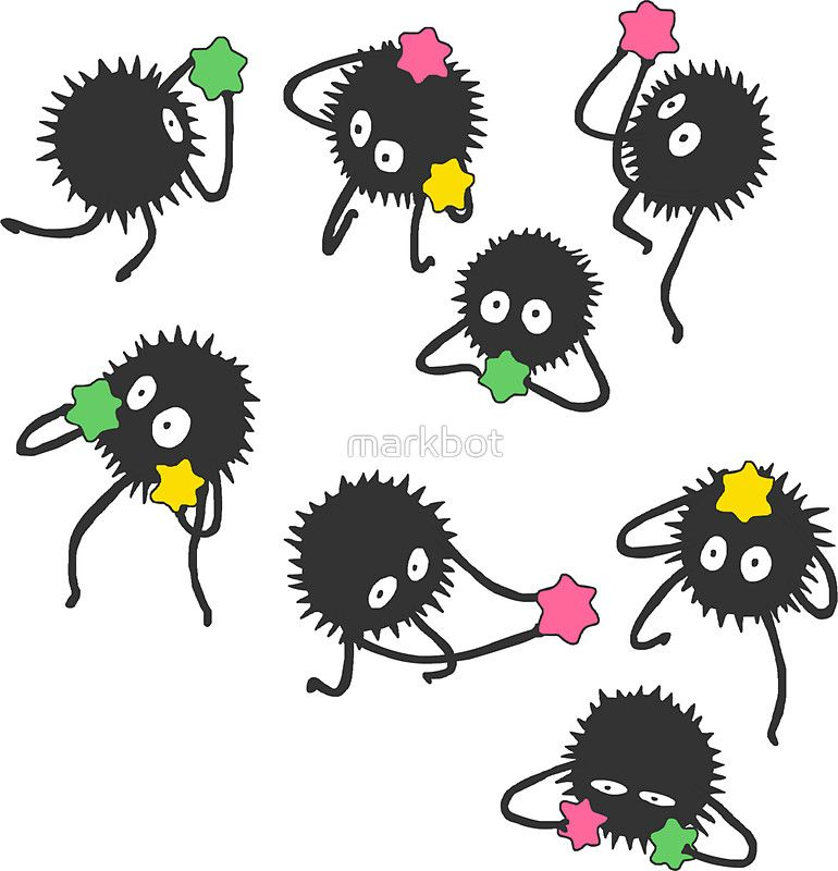 Soot Sprites From Spirited Away Kawaii Stickers Anime Stickers Stickers