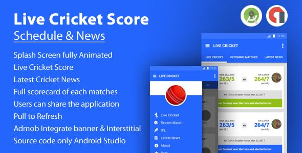 Live Cricket Score & News and Live TV Blogger Template | Web
